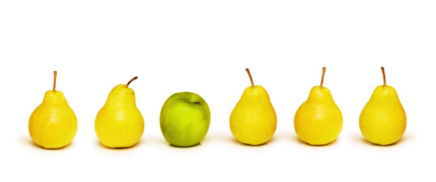 Stand out from crowd with apple and pears